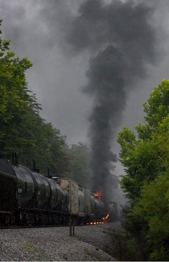 Train fire in Tennessee