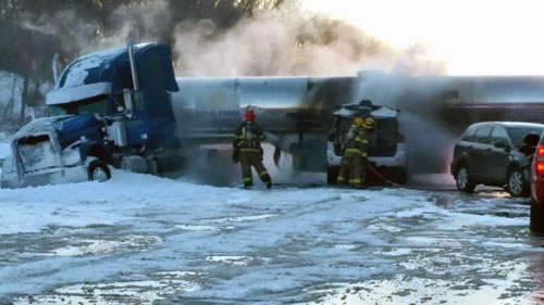 Tanker and SUV incident in New Jersey