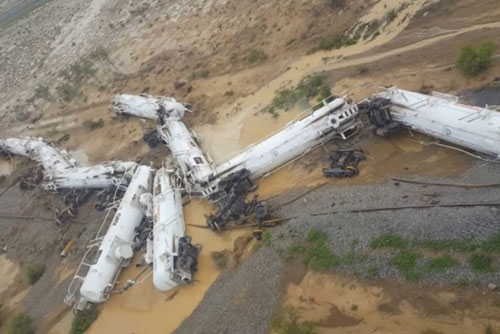 Train derailment in Queensland