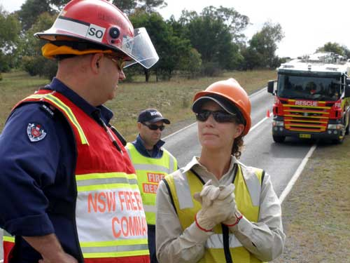 Consulting with the FRNSW Incident Controller