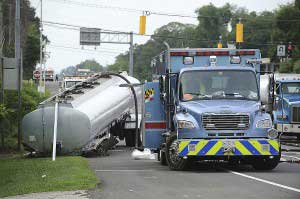 Unhitched tanker in Maryland